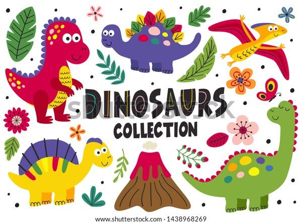 Vector De Stock Libre De Regalias Sobre Conjunto De Dinosaurios Lindos Aislados Parte1438968269 Descarga gratis este vector de dinosaurios lindos y descubre más de 9 millones de recursos gráficos en freepik. shutterstock