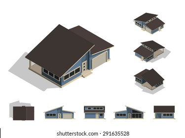 House elevation images stock photos vectors shutterstock for Building house with side views