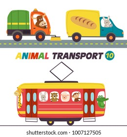 set of isolated transports with animals part 10
