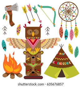 set of isolated tribal elements