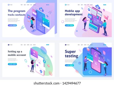 Set isometric landing pages, concept mobile application testing, mobile application development and setting up. For website and mobile apps development
