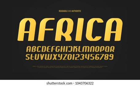 set of italic style alphabet letters and numbers. vector, oblique font type design. golden, sloping typeface. inclined urban typescript