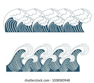 set of japan wave