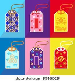 Set of Japanese Amulet