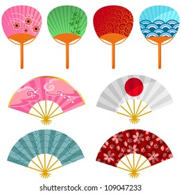 set of japanese fans (jpeg version available in my gallery)