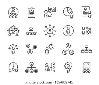 set of job seach icons ,such as work, career, traning, business, skill, meeting, people