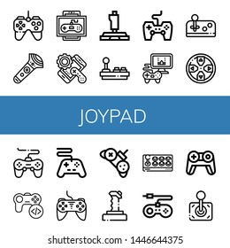 Set of joypad icons such as Gamepad, Controller, Game, Joystick, Game controller, Videogame, Game console , joypad