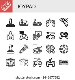 Set of joypad icons such as Gamepad, Joystick, Controller, Videogame, Game console, Game, Game controller , joypad