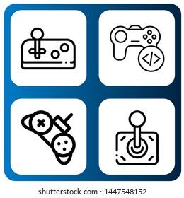 Set of joypad icons such as Joystick, Game, Controller , joypad
