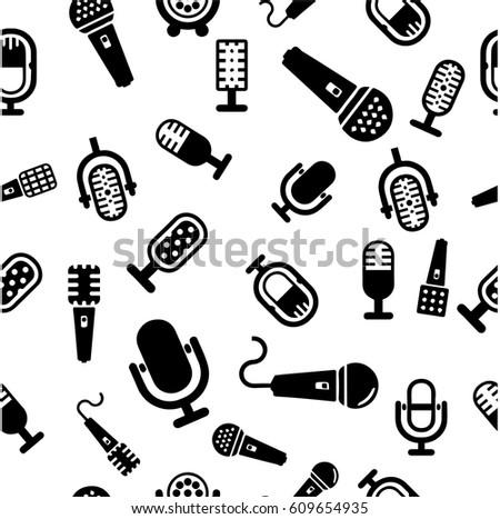 Set Karaoke Related Labels Badges Design Stock Vector Royalty Free
