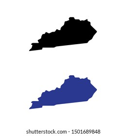 a set of Kentucky state map icons