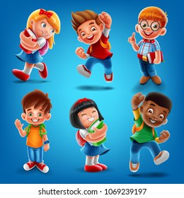 set kids for school banner