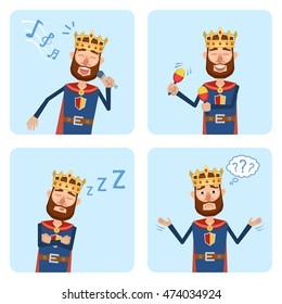Cartoon King Man Images, Stock Photos & Vectors   Shutterstock