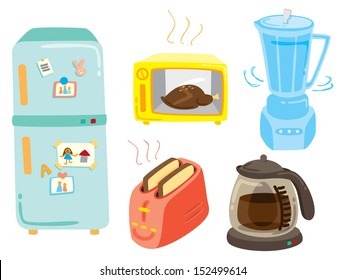 set of kitchen equipment icon