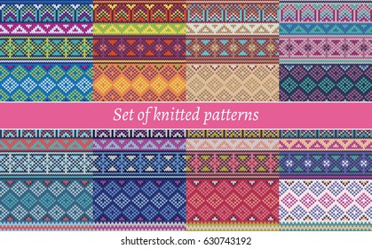 Set of knitted patterns