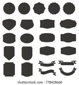 set of label and badges collections vector template