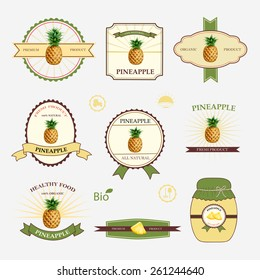 Set of label design and templates, vector illustration.