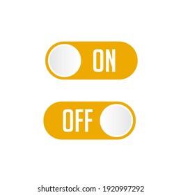 set label icon on off, premium vector