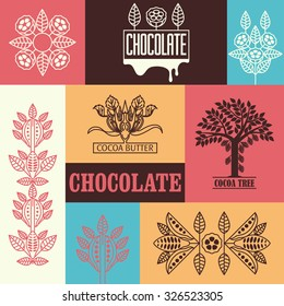 Set of labels for chocolate