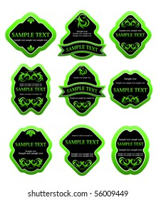 Set of labels for design food. Jpeg version also available in gallery