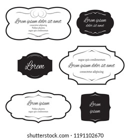Set of labels for design vintage style. Vector banner.