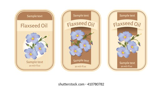 Set of labels for flaxseed oil