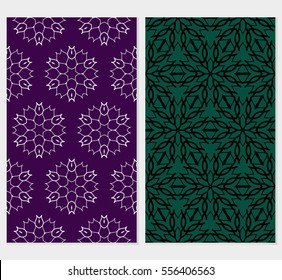 set of Lace seamless pattern with floral ornament. Vector illustration. for design invitation, background, wallpaper