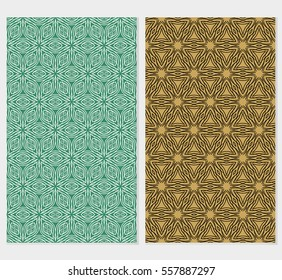 set of Lace seamless pattern with floral ornament. Creative Vector illustration. for design invitation, background, wallpaper