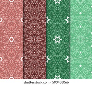 set of Lace seamless pattern. floral ornament. Creative Vector illustration. for design invitation, background, wallpaper
