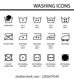 Set of laundry vector icons