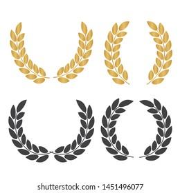 Set of laurel wreaths. Icon laurel wreat