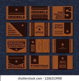 Set of leather labels v2