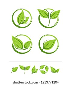 Set of leaves labels and elements set. Vector