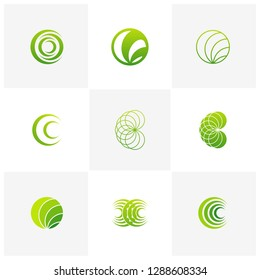 Set of Letter C logo icon design template elements, Initial C logo design concept - Vector