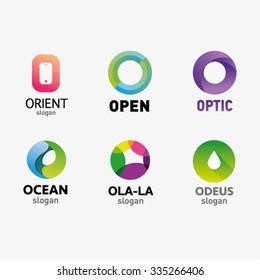 Set of letter logo design template elements collection of vector letter O logo
