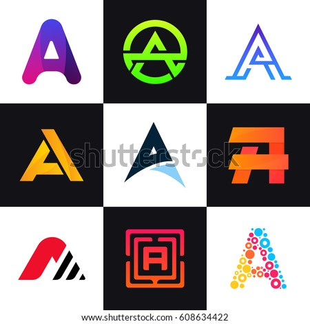 Set Letter Logos Company Icon Signs Stock Vector (Royalty Free