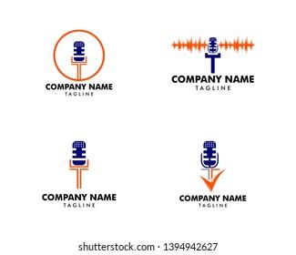 Set of Letter T Voice Over Logo Icon Design