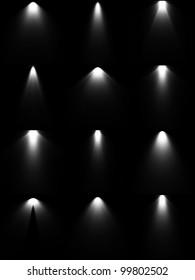 Set light sources. Vector