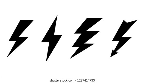 Set of lightning icons. Lightning icon. Lightning vector icon. Lightning. Lightning vector collection