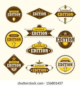 Set of limited edition labels. Vector illustration.