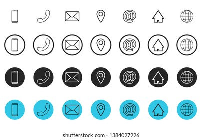 Phone Email Address Icon Images Stock Photos Vectors Shutterstock