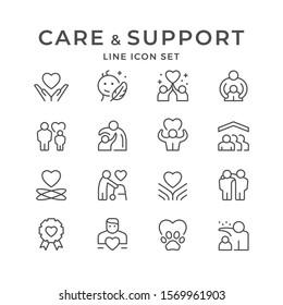 Zeilensymbole für Betreuung und Support festlegen