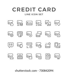 Set line icons of credit card