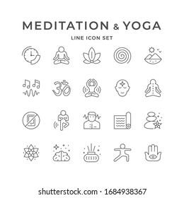 Zeilensymbole für Meditation und Yoga festlegen