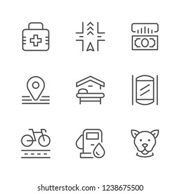 Set line icons of public navigation