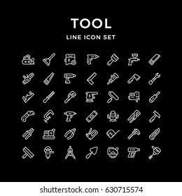 Set line icons of tool