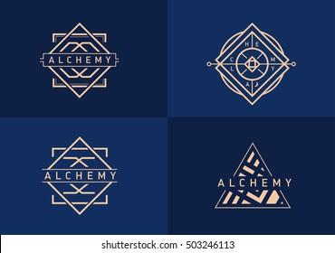 set linear gradient logo on alchemy