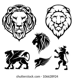 Set of lion