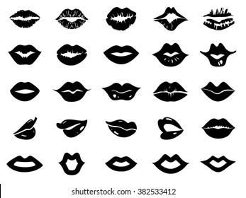 Set of lips icon