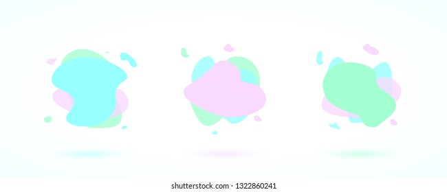 Set of liquid colorful abstract shapes. Abstract banners with flowing liquid shapes. Vector illustration. EPS 10